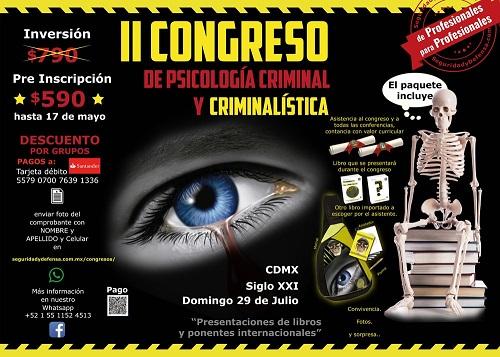 II CONGRESO DE PSICOLOGIA CRIMINAL Y CRIMINALISTICA