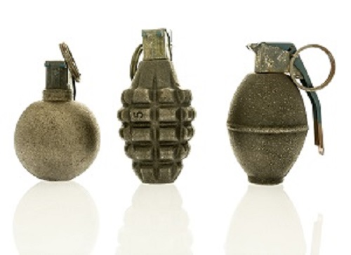 Minas, granadas, explosivos