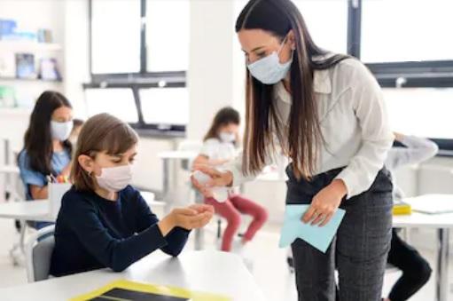covid niños escuela